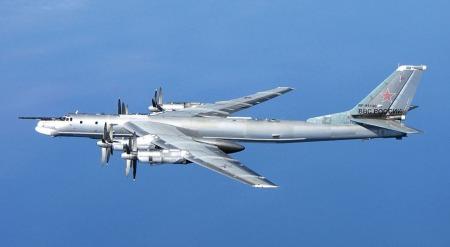 Avião TU-95 Bear, da Força Aérea Russa. Foto: U.K. Royal Air Force